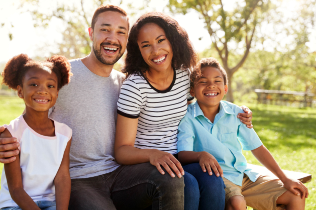 family all together smiling | Family Dentistry in Chico, CA
