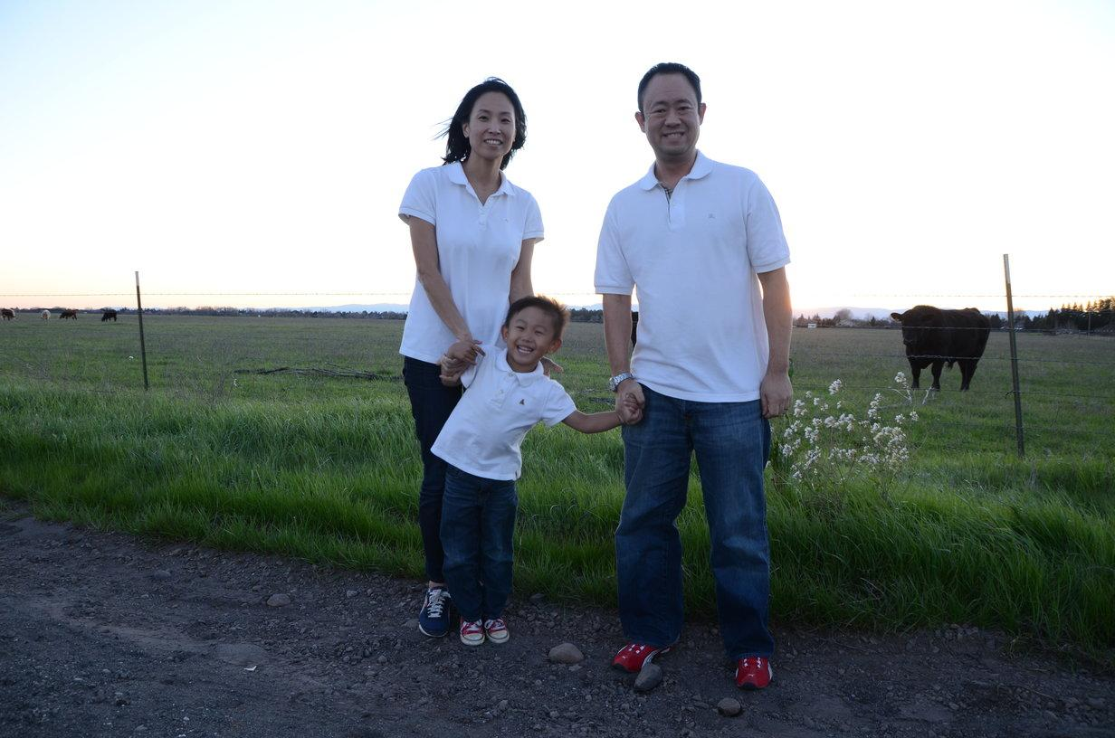Dr Daniel Surh DMD with his family near Chico, CA
